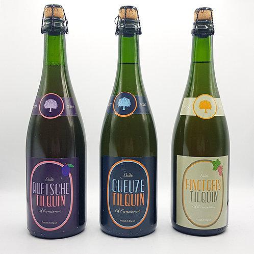 Tilquin Pinot Gris 19/20 + Oude Geuze + Oude Quetsche   3 x 75cl