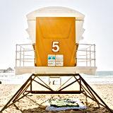 California beach hut