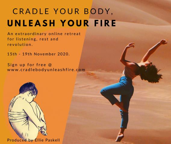 Orange Cradle Your Body, Unleash Your Fire Facebook