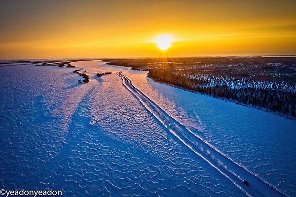 Frozen OB Highway - Golden Hour.