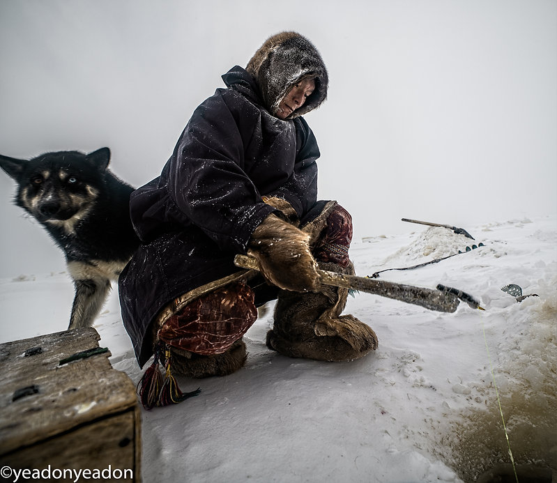 Frozen OB Highway - Nenets Fisherman.