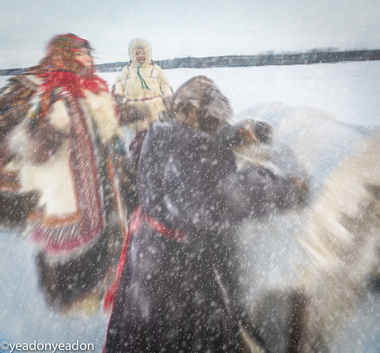 Nenets Trudge accross the ice