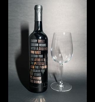 BLACKnOUT Custom Signature WINE Bottle