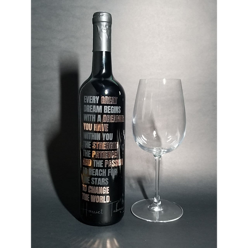 BLACKnOUT Custom Signature WINE Bottle