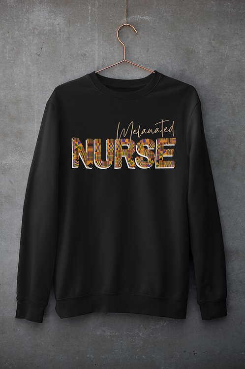"BLACKnOUT Muse Collection - ""NURSE"" Edition Crewneck Sweater"