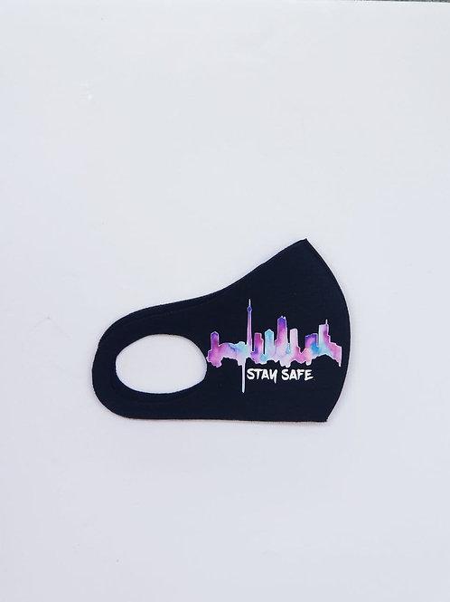 BLACKnOUT Toronto Skyline Face Mask