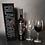 Thumbnail: BLACKnOUT Custom Signature WINE Bottle w 2 Etched Wine Glasses