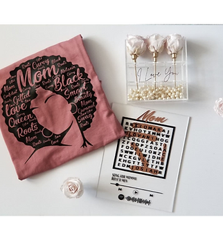BLACKnOUT Mothers Day 3 Rose T-Shirt Gift Box
