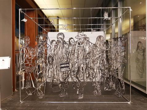 "Installation ""Convergence'"" at DIFC Art Night"