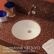gemstone 1313-vo, vanity, doctor sinks, circle sinks, solid surface, sinks, gemstone sinks
