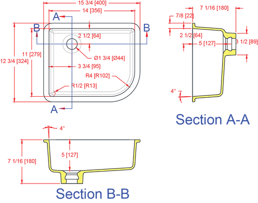 Gemstone R1114-V Universal Lavatory Bowl