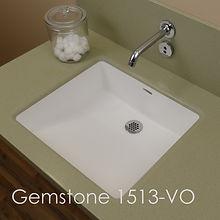 gemstone 1513-VO, vanity sinks, vanity, doctor sink, gemstone sinks, solid surface sinks