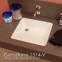 gemstone 1514-V, sinks, vanity, doctor sinks, vanity sinks, office sinks, gemtone sold surface, solid surface sinks