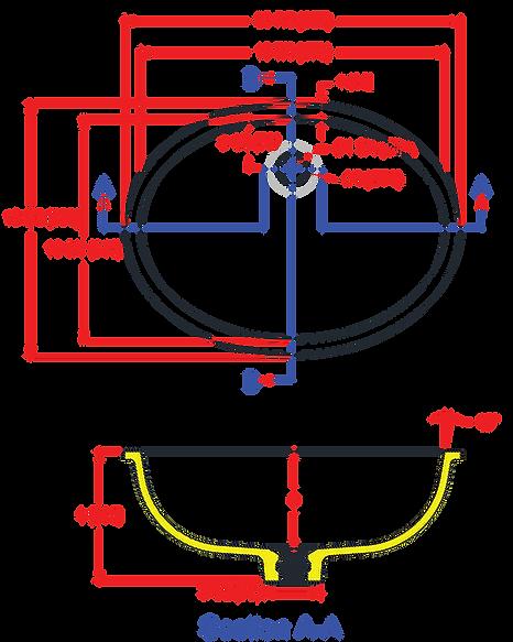 1914-V Universal Lavatory Bowl
