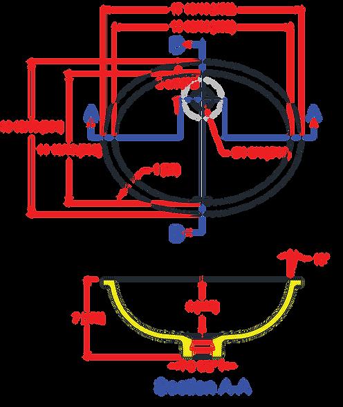 1612-VO Lavatory Bowl