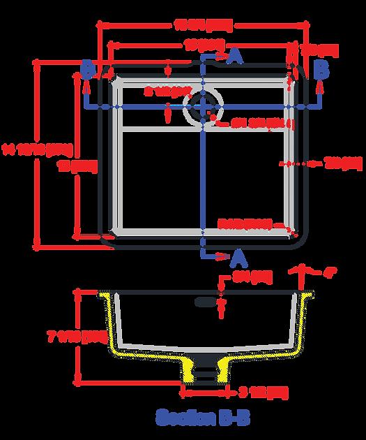 1513-VO ADA Lavatory Bowl