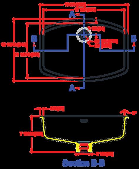 1712-VO Lavatory Bowl