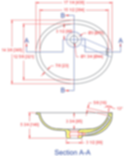1512-VOADA Lavatory Bowl