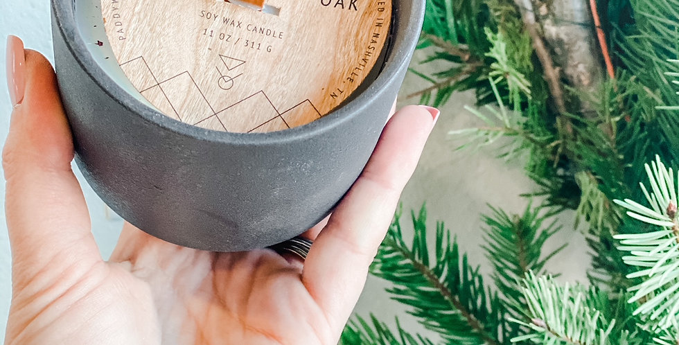 Cottonwood + Oak Wood Wick Candle