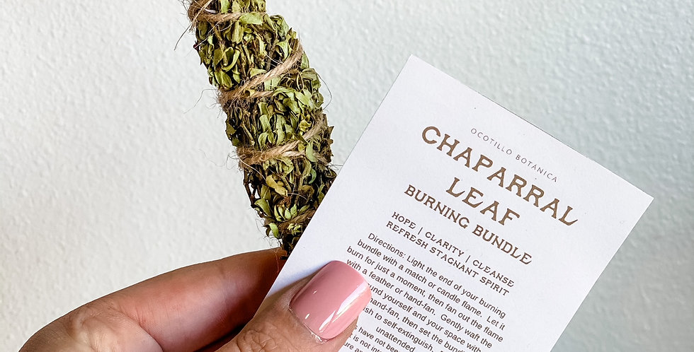 Chaparral Leaf Burning Bundle