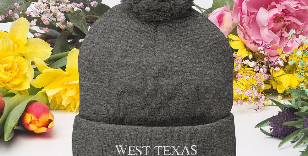 West Texas Pom-Pom Beanie