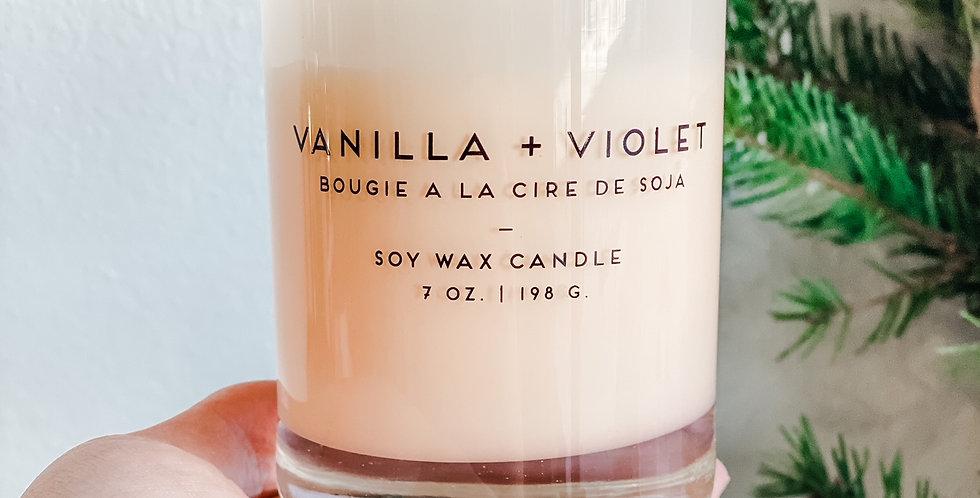 Vanilla + Violet Candle