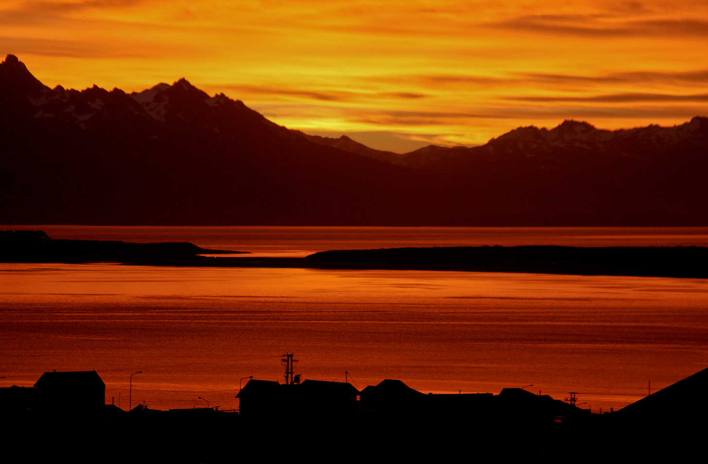 Ushuaia Sunset from home.