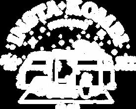 White Insta Kombi Logo on VW Kombi