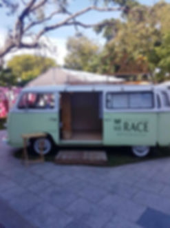 Kombi Photo Booth with Brisbane Racing club sticker
