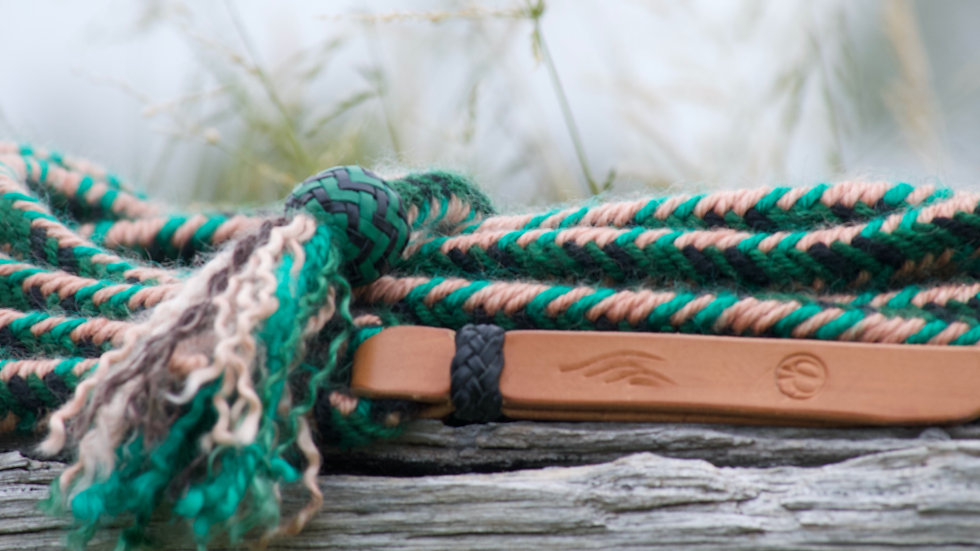 Mohair braided mecate rein