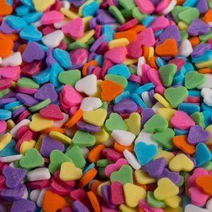 סוכריות לבבות צבעוני