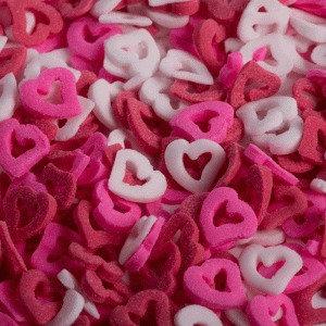 סוכריות לבבות חלול לבן ורוד אדום