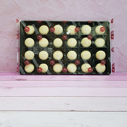 24-חצאים עוגיות מקרון לבן