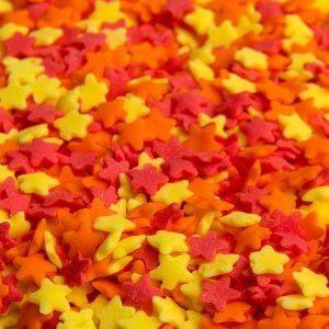 סוכריות כוכבים אדום כתום צהוב