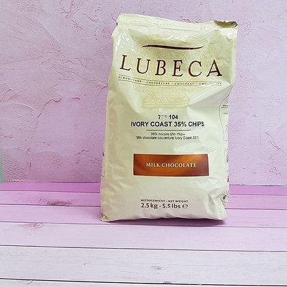 שוקולד לבן לובקה 2.5 קילו חלב