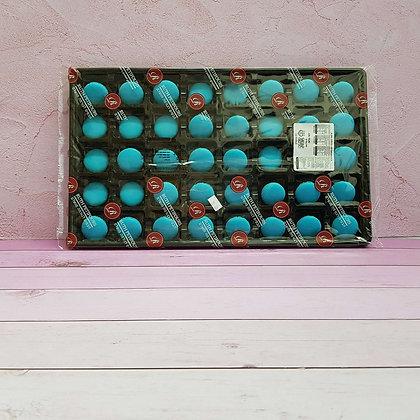 40-חצאים עוגיות מיני מקרון כחול