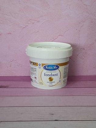 בצק סוכר זהב 2.5 קג