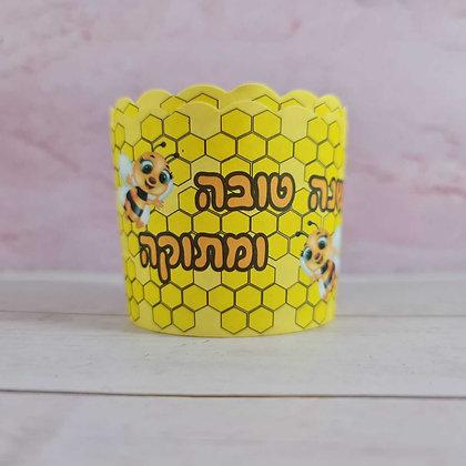 40 קאפקייקס צהוב דבורה