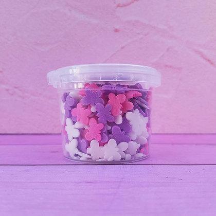 סוכריות פרפר לבן סגול ורוד