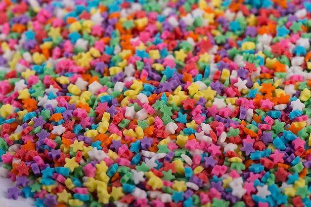 סוכריות מיני כוכבים צבעוני