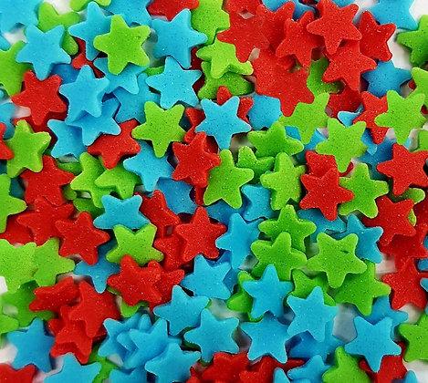 סוכריות כוכבים תכלת אדום ירוק