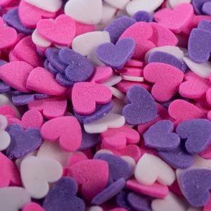 סוכריות לב ורוד סגול