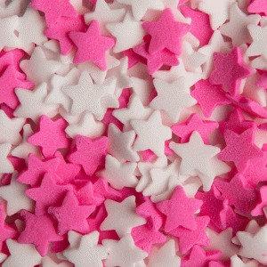 סוכריות כוכבים לבן ורוד