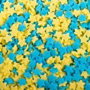 סוכריות כוכבים כחול צהוב