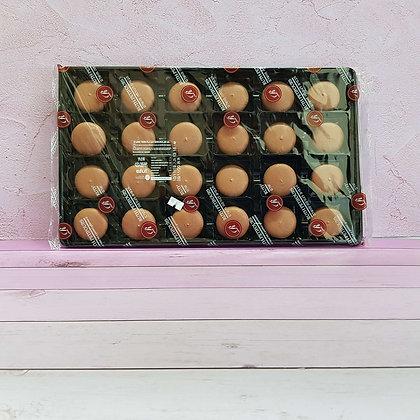 24-חצאים עוגיות מקרון חום