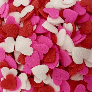 סוכריות לבבות לבן אדום ורוד