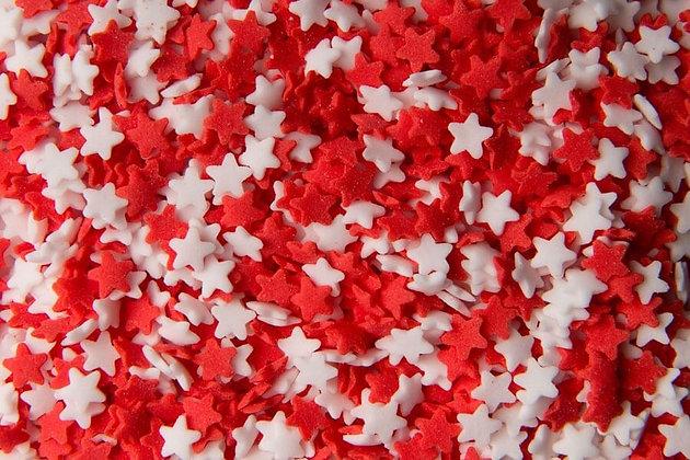 סוכריות כוכבים לבן אדום