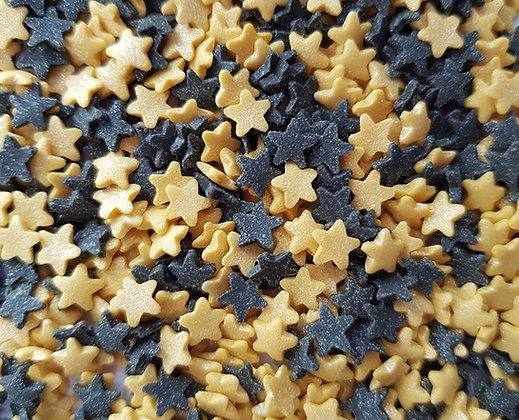 סוכריות כוכבים שחור זהב