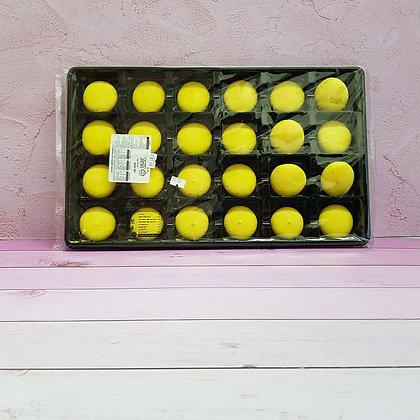 24-חצאים עוגיות מקרון צהוב