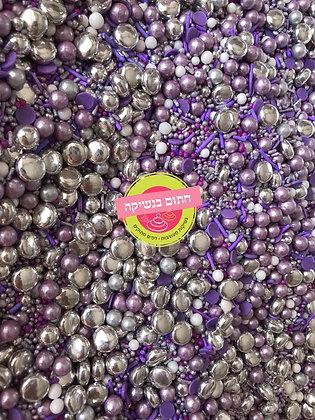 מיקס סוכריות סגול כסוף
